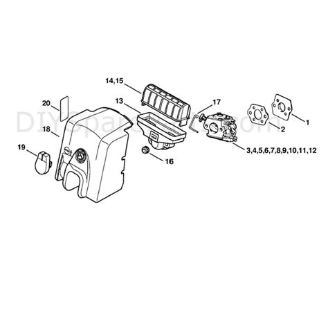 stihl ms 210 parts diagram stihl ms 210 chainbsaw ms210zwoodboss parts diagram air