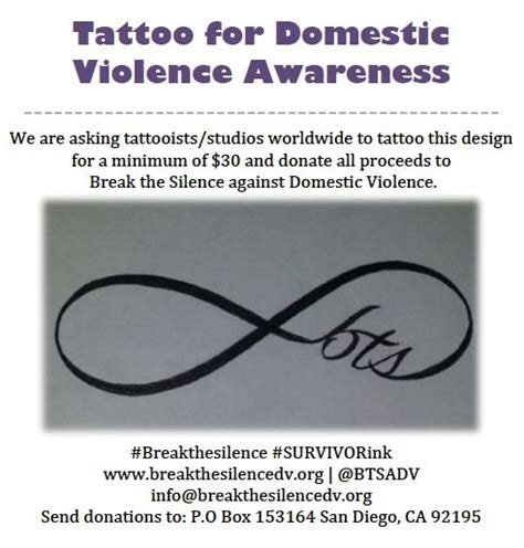 domestic violence survivor tattoos for domestic violence awareness the silence