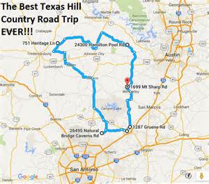texas hill country road trip map the ultimate texas hill country road trip