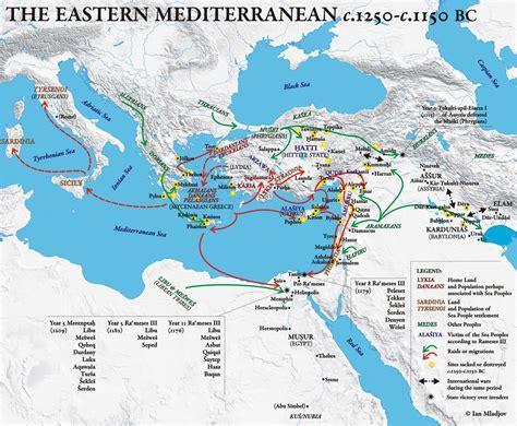 middle east map sea the eastern mediterranean c 1250 c 1150 bc ian mladjov