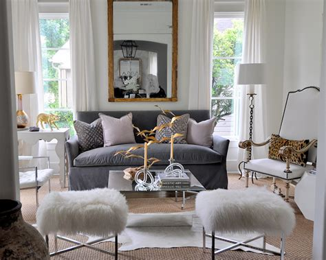 Grey Sofas In Living Room Gray Velvet Sofa Eclectic Living Room Sally Wheat Interiors