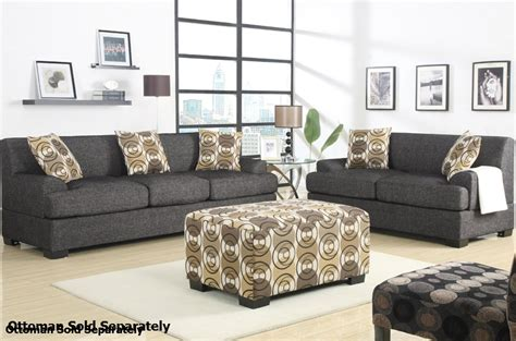 loveseat and ottoman set poundex montreal f7447 f7446 grey fabric sofa and loveseat