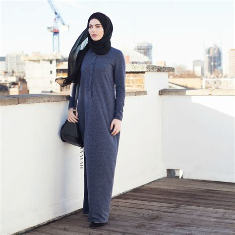 Inayah Maxi inayah blue textured fall abaya black maxi georgette