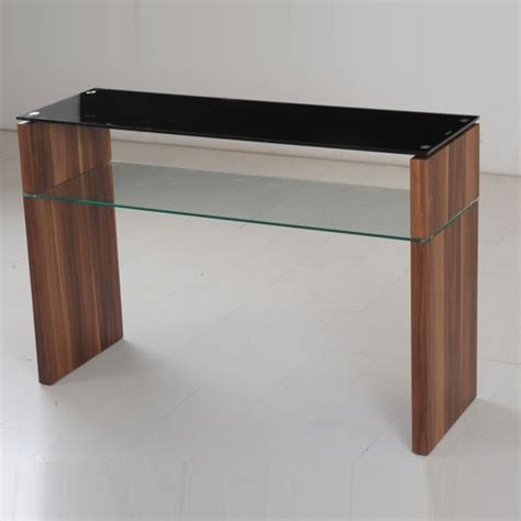 Glass Sofa Table Modern Glass Console Table Modern Atlanta Black Glass Console Table With Underself And Walnut Leg
