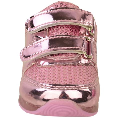 light up shoes size 4 new girls kids babies led light up trainers strappy