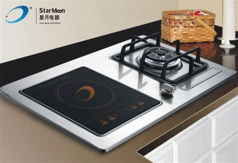 induction cooking compared to gas 750b gas stove with portable induction cooker in zhongshan guangdong china zhongshan