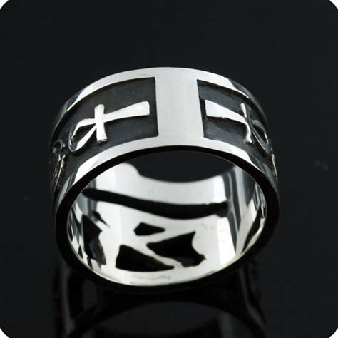 occhio di horus illuminati eye of horus and ankh ring