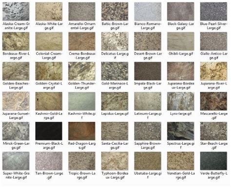 colors of granite granite countertop names bstcountertops