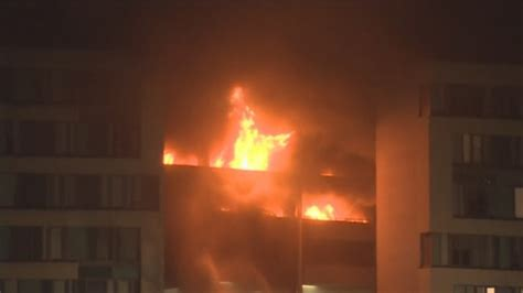 new year in liverpool car park blaze in liverpool destroys hundreds of vehicles
