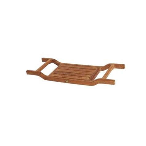 bathtub caddy home depot arb teak specialties 34 in x 12 25 in bathtub caddy in