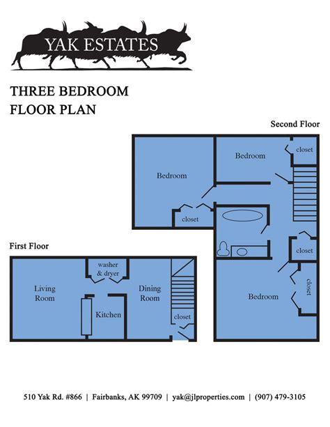 three three robin floor plan fairbanks alaska apartments yak estates three bedroom