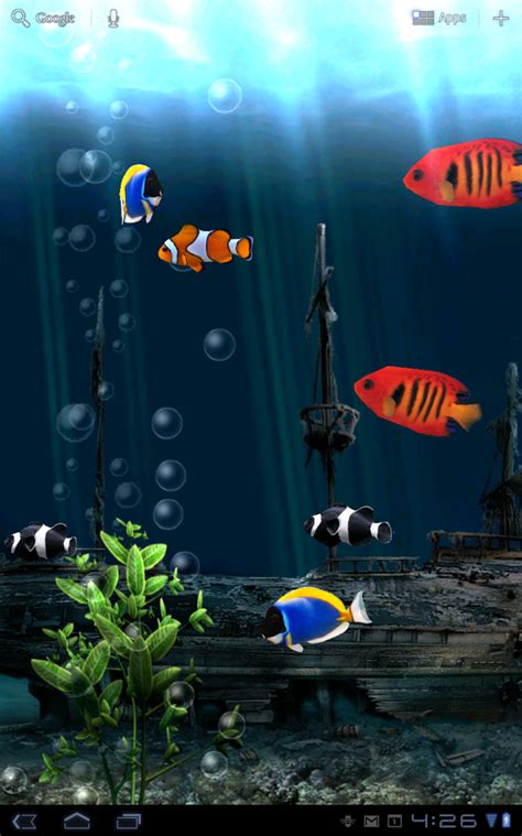 free live wallpapers for android aquarium free live wallpaper android apps on play