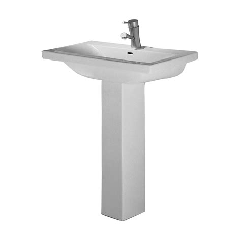 mistral white one hole pedestal sink barclay products