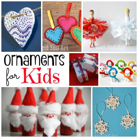 diy christmas ornaments red ted arts blog