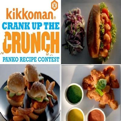 Kikkoman Sweepstakes - kikkoman crank up the crunch panko recipe contest sweepstakesbible