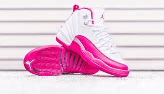 12 Valentine Day air jordan 12 gs white dynamic pink release date sneaker