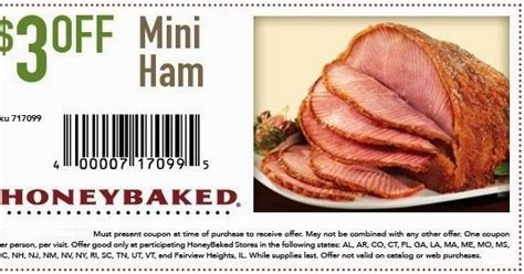 Honey Baked Ham Coupons Printable 2016