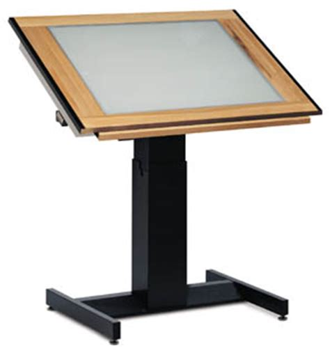 Light Drafting Table Mayline Futur Matic Light Table 37 5 Quot X 60 Quot Top 8696blt