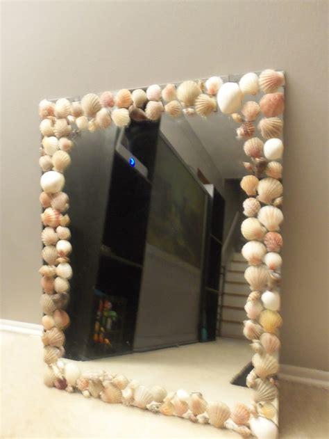 shell bathroom mirror seashell mirror craft and dyi ideas pinterest