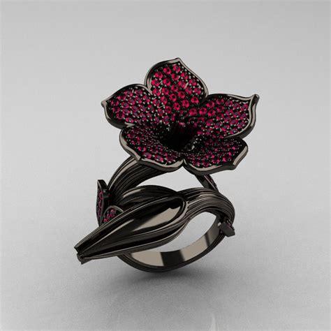 designer exclusive 14k black gold pink sapphire devils