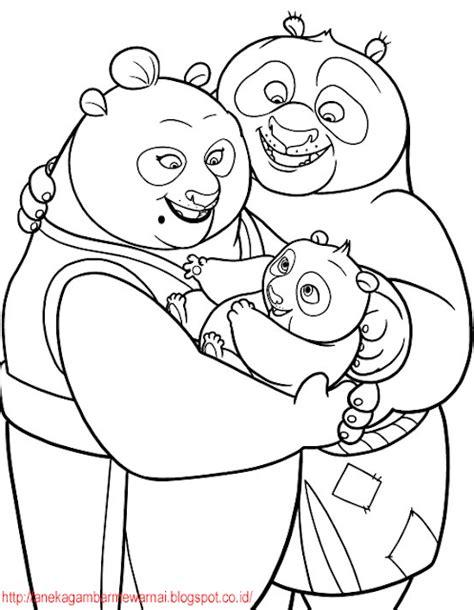 Gambar Mewarnai Kung Fu Panda Untuk Anak PAUD dan TK