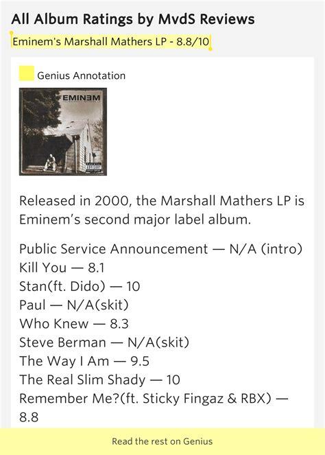 eminem public service announcement 2000 eminem s marshall mathers lp 8 8 10 all album ratings