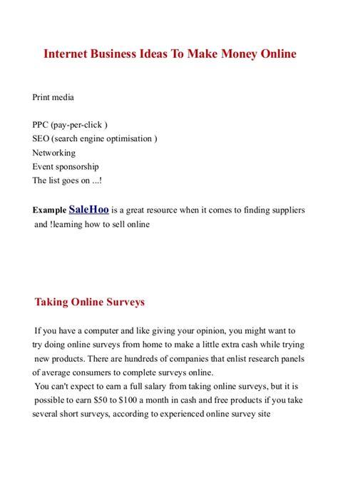 Idea To Make Money Online - internet business ideas to make money online free ebook