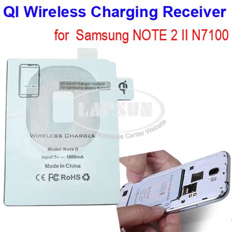 Noosy Wireless Charger Receiver For Samsung Galaxy Note 3 Ns02 qi wireless power charger charging receiver pad f samsung galaxy note 2 n7100 model note ii