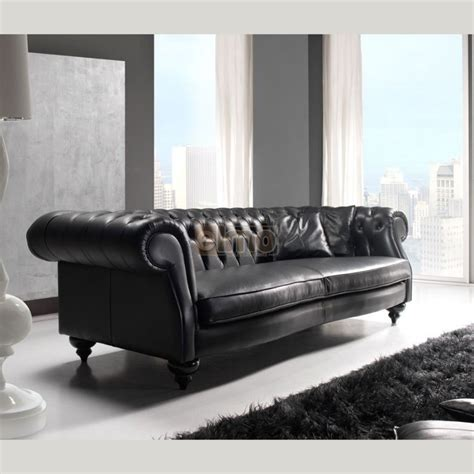 canap 233 chesterfield contemporain 2 ou 3 places cuir