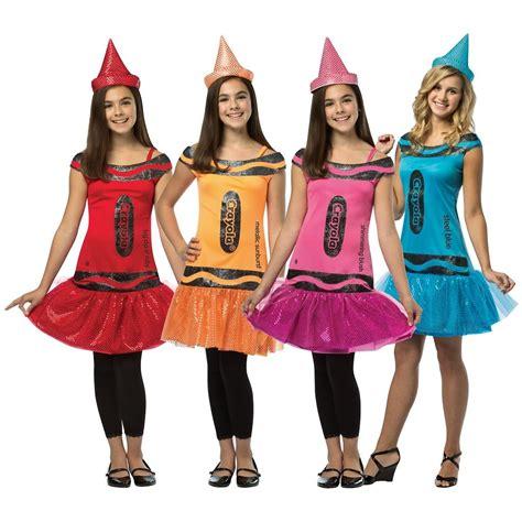 crayola crayon costume teentween funny girls group