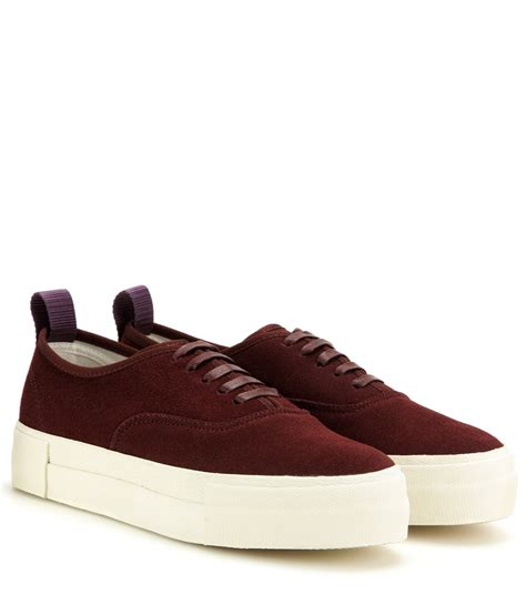 of shoes black suede mothers eytys suede sneakers in purple lyst
