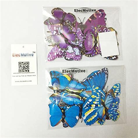 elecmotive 12 pcs purple 12 elecmotive 12 purple 12 blue 3d butterfly stickers home
