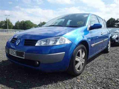renault megane 2004 blue renault 2003 53 megane dynamique 1 6 16v blue car for sale