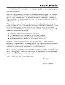 writing a cover letter for college admissions leading professional admissions counselor cover letter