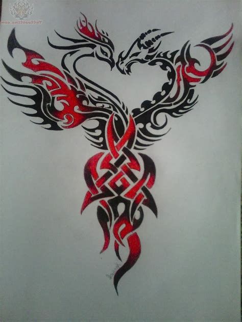 dragon phoenix tattoo designs the gallery for gt and meaning