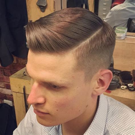 hair parting comes forward men s side part hairstyles and parted haircuts men s