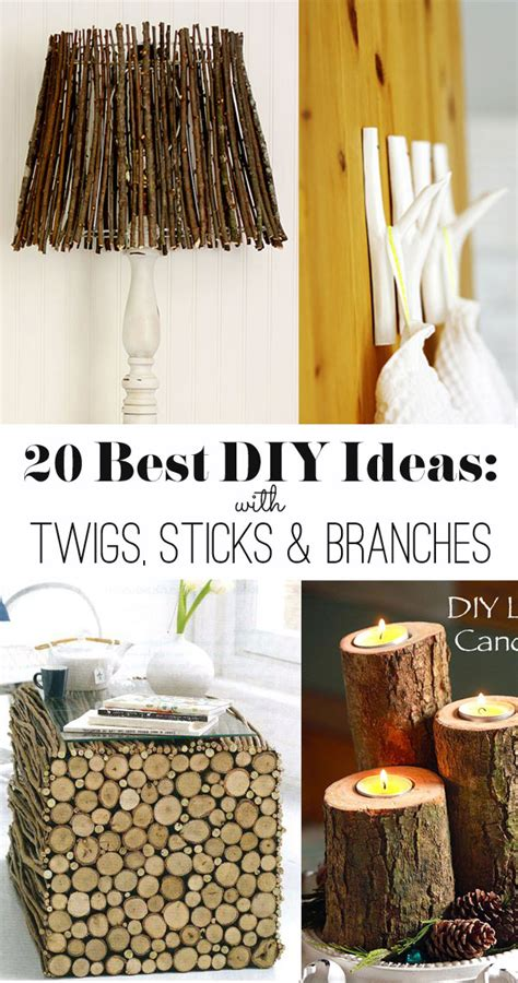diy best ideas 20 best diy ideas with twigs sticks and branches