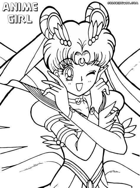coloring pages of a girl anime girl coloring pages coloring pages to download and