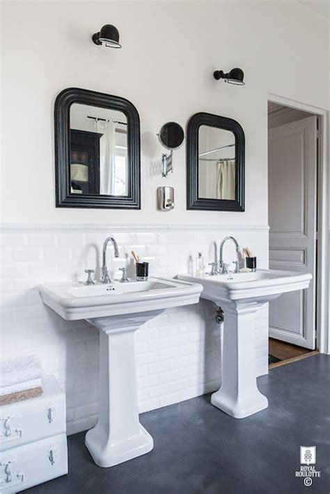 subway tile wainscoting bathroom beveled subway tile wainscoting transitional bathroom