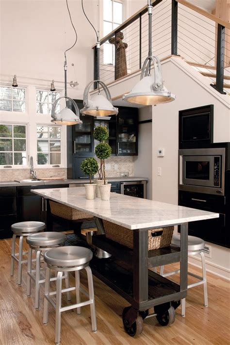 narrow kitchen island ideas  pinterest