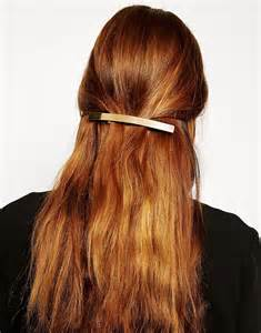 hair barettes asos asos gold hair barrette at asos