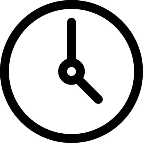 simple clock simple circular clock icons free download