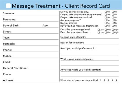 nail technician client record card template items similar to client card client record card