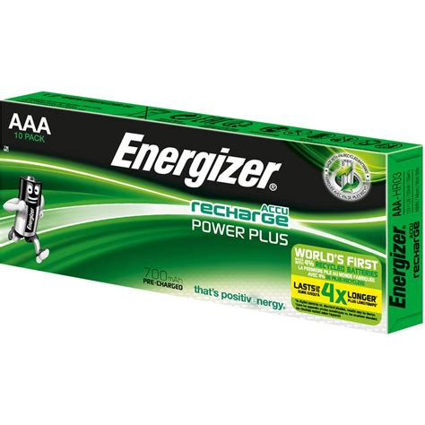 Battery Energizer Recharge Power Plus 2pcs Aaa Pack energizer rechargeable batteries aaa nh12 700 mah pack of 10 pre charged package 10