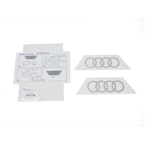 Aufkleber Audi Ringe by Audi Original Dekorfolie Audi Ringe Brillantschwarz