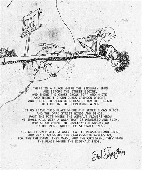 where the sidewalk ends poems and drawings shel weirdly random where the sidewalk ends