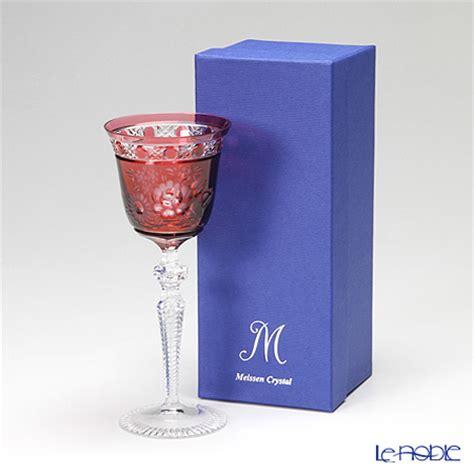 bleikristall le le noble meissen flower wine glasses
