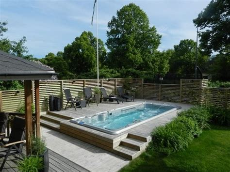 hydropool custom swim spa installations imagine backyard