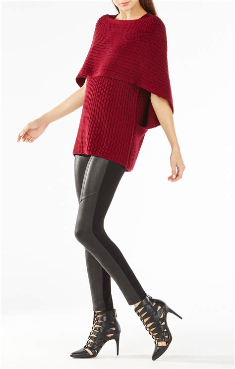 Recommended Item Givenchy Trixie 9971 bcbgmaxazria mariana draped wrap sweater in lyst