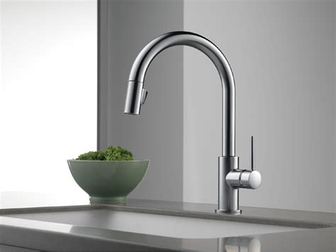 Three Hole Kitchen Faucets by Delta 9159 Ar Dst Trinsic Single Handle Pull Down Kitchen